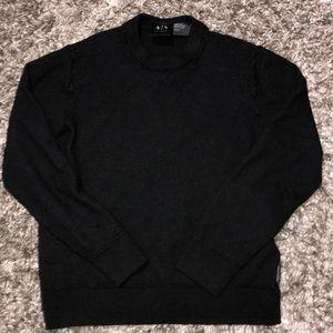 Armani Exchange wool pullover sweater black medium